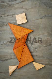 tangram dancer figure