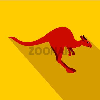 Kangaroo icon, flat style