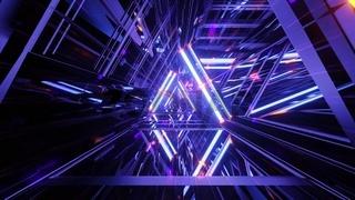 Blue science fiction tunnel 3d illustration background wallpaper