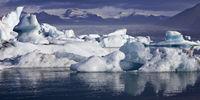 Glacier lagoon, Joekulsarlon, Vatnajoekull National Park, Hornarfjoerdur, Iceland, Europe