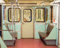 Interior old metro underground train