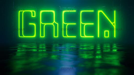 neon light sign green