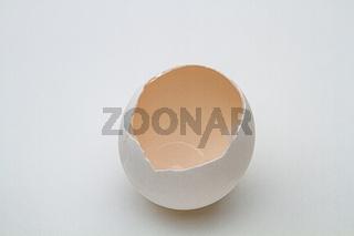 Egg cracked opened