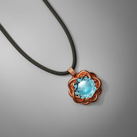 Beautiful topaz jewel necklace on black background