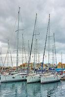 Yachts at Marina in Tenerife