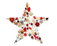 Christmas Star, Decoration And Ornament, Isolated Background