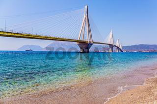 Sandy beach on the Gulf of Corinth