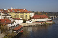 Old town at the bank of the Vltava
