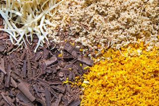 Geriebene Schokolade und andere Süssigkeiten