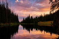 Lake Irene at Sunset, Rocky Mountain National Park