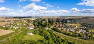 Blick über Ermsleben Stadt Falkenstein Harz
