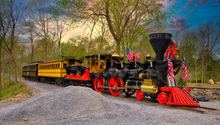 Replica of an Old 1860's Steam Engine Getting Ready