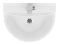 top view of ceramic bathroom sink isolated