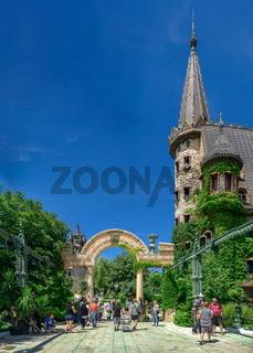 Arched gate in the park of Ravadinovo castle, Bulgaria