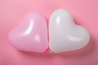 Valentine day heart balloons