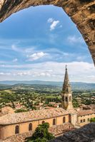 View of the village church of Saint-Saturnin-les-Apt
