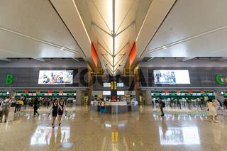 Flughafen Shanghai Hongqiao International Airport Terminal 2 in China