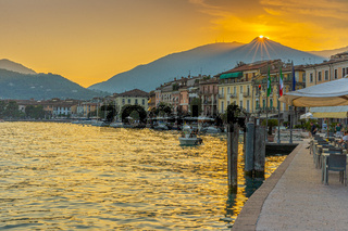 Sunset in Saló at Lake Garda, Italy
