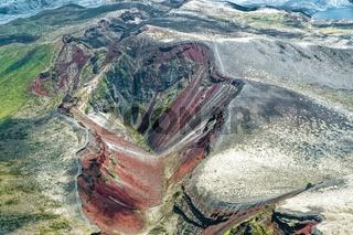 Der Vulkan Mount Tarawera im Distrikt Rotorua Lakes der Region Bay of Plenty auf der Nordinsel von Neuseeland