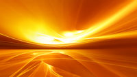Bright orange fractal horizon