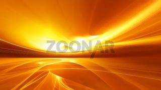 Bright orange fractal horizon