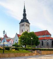 Nicholas church, park, Tallinn, Estonia