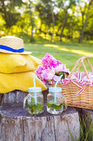 Bright summer picnic