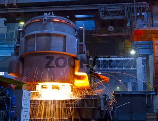 Stahlwerk Gießbühne