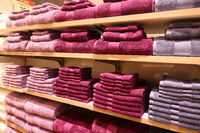 Towels on the shelves