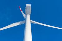 Wind turbines onshore at the North Sea coast