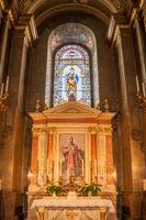 Interior of the roman catholic church St. Stephen's Basilica. Budapest, Hungary