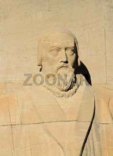 John Knox, reformation wall, Geneva, Switzerland.