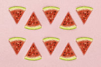 watermelon on soft pink background
