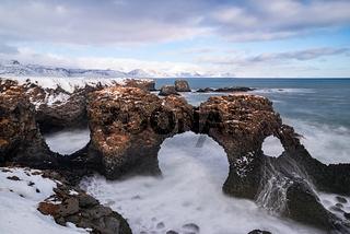 Gatklettur arch in Arnarstapi, Iceland