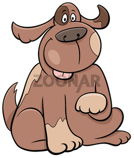 cartoon sitting spotted dog funny animal character