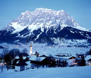 Zugspitze, Leermoos, Winter, Tirol, Landschaft, Oesterreich,