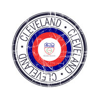 City of Cleveland, Ohio vector stamp