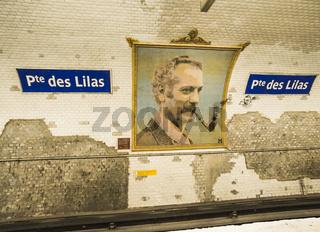 georges brassens, porte des lilas metro station