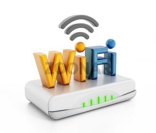 Wifi text on modem