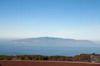 View of Gomera, Teide National Park, Tenerife, Canary Islands, Spain, Europe