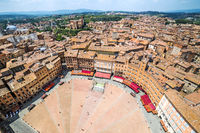 Old town and city of Siena, Italy