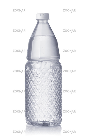 Front view of mineral sparkling water bottle