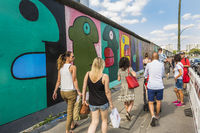 visitors at east side gallery