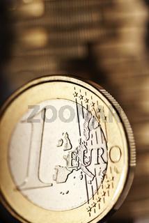 Nahaufnahme einer Euro Münze