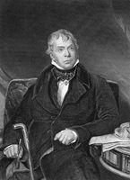 Walter Scott (1771-1832) on engraving from 1873. Scottish historical novelist