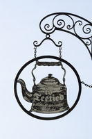 Sign of tea time at a tea room at Greetsiel
