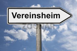 Wegweiser Vereinsheim | signpost Vereinsheim (Clubhouse)