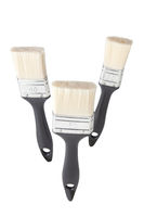 three paintbrushes on white