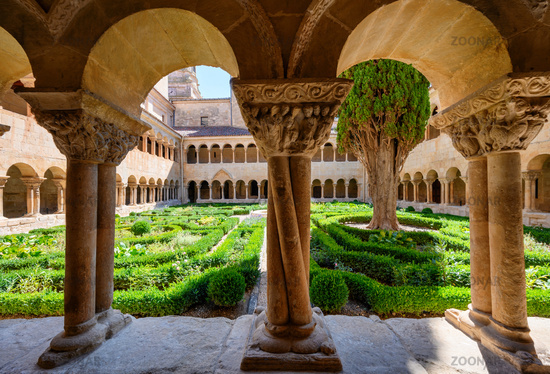 Cloister of Santo Domingo de Silos Abbey in Burgos, Castilla y Leon, Spain.