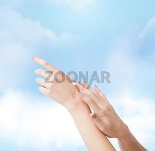 female soft skin hands